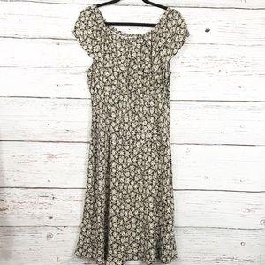 Ann Taylor Loft Brown Floral Dress